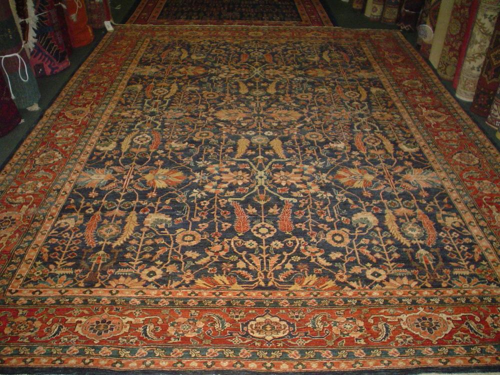 """#19) 8'9"""" x 11'6"""" Beautiful Heriz rug. Woven in Afghanistan, antique design, new rug."""