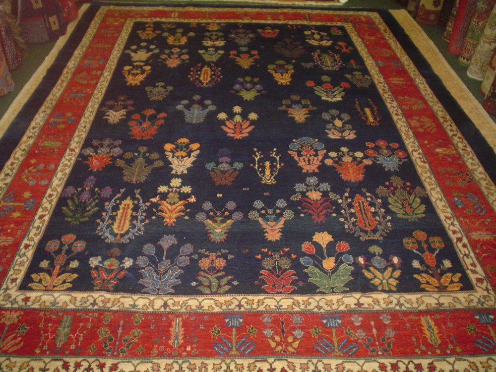 "#20) 8'4"" x 11'2"" Persian Khamasehbaf. One-of-a-kind tribal rug in beautiful jewel tones."