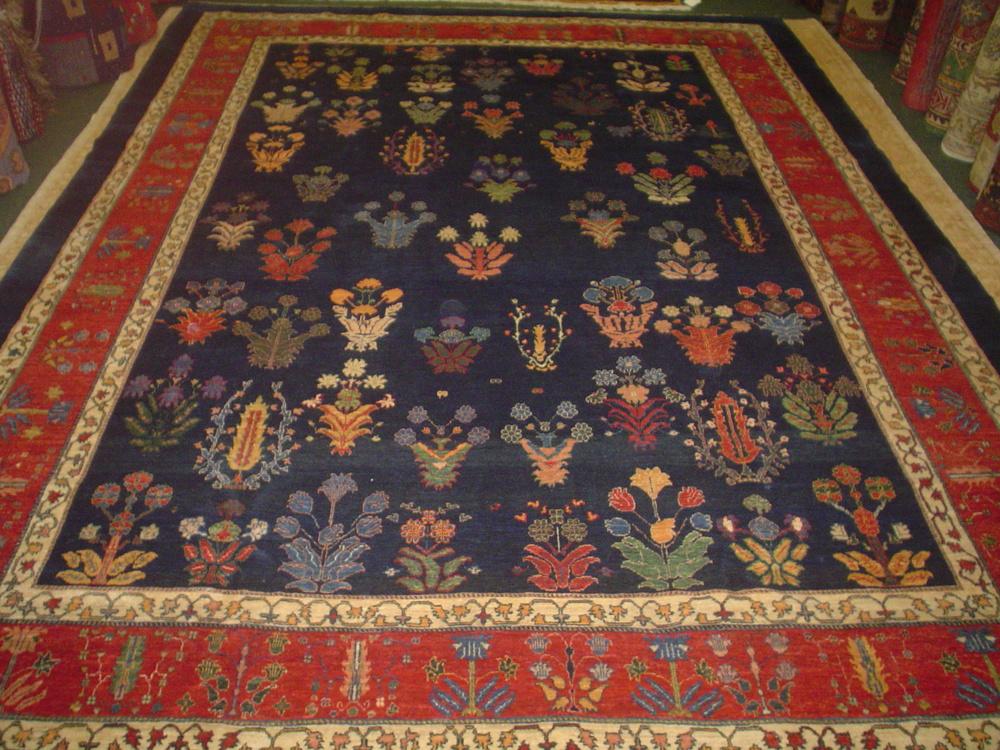 "#27) 8'4"" x 11'2"" Persian Khamasehbaf. One-of-a-kind tribal rug in beautiful jewel tones."