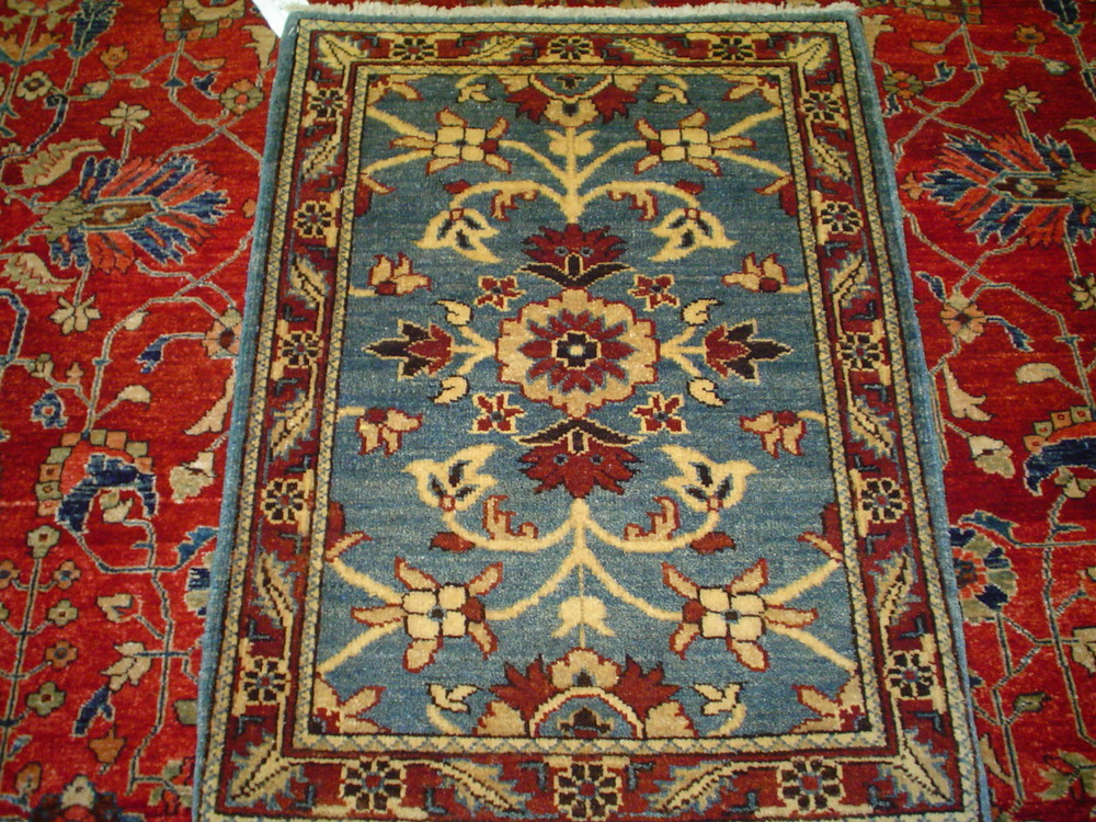 #33) 2 x 3 Afghan in a tribal design.
