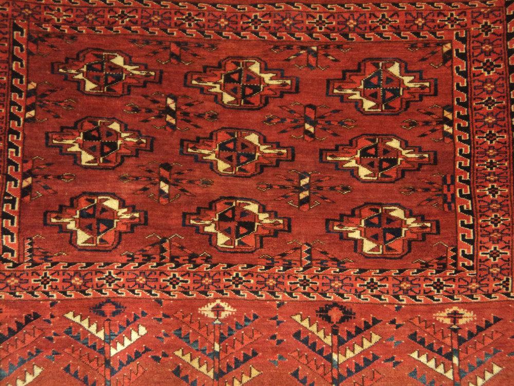 "#24) 2'8"" x 3'10"" Old Turkoman Torba (storage bag) in very good condition. 1st Q. 20th Century."