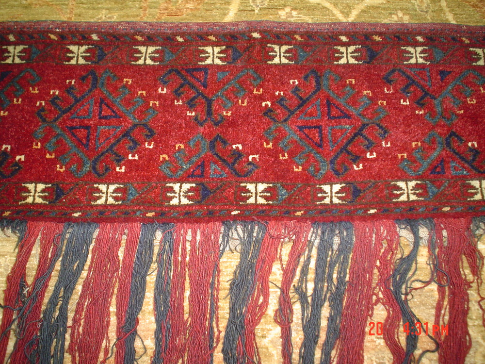 #12: Great old Persian Turkoman wall hanging.
