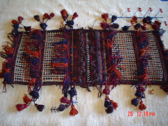#18: Enchanting old saddle bag from Afghanistan.
