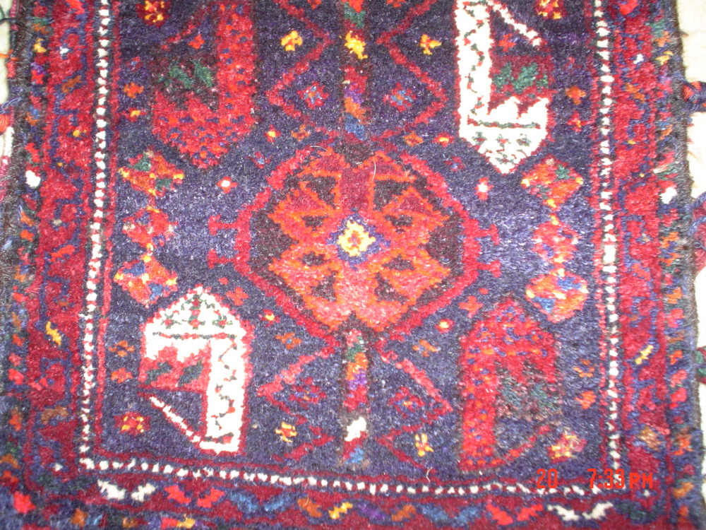 #20: Qashqai saddlebag, two sides, whole and complete.