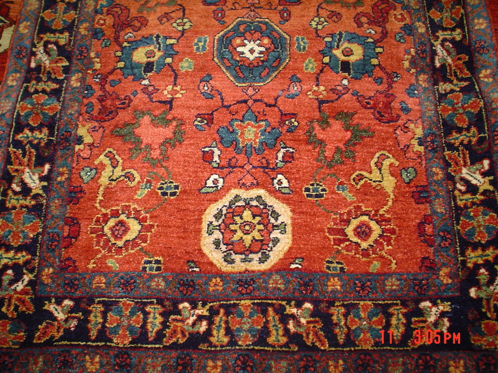 #26: Small Persian Bijar.Additional close up, Persian Bijar.