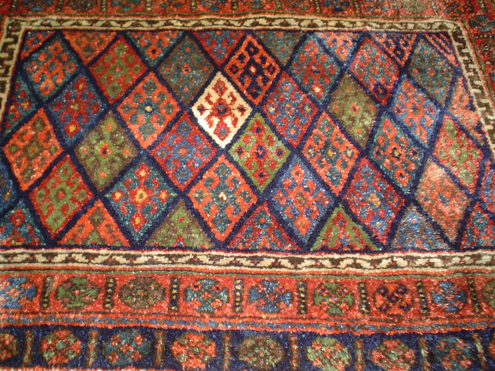 #27: Very large front of an old bag or torba. Antique Jaff Kurd