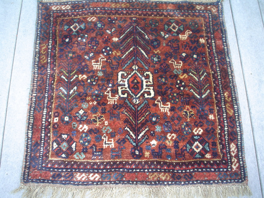 #40: Small Persian Shiraz rug from the 1940's.