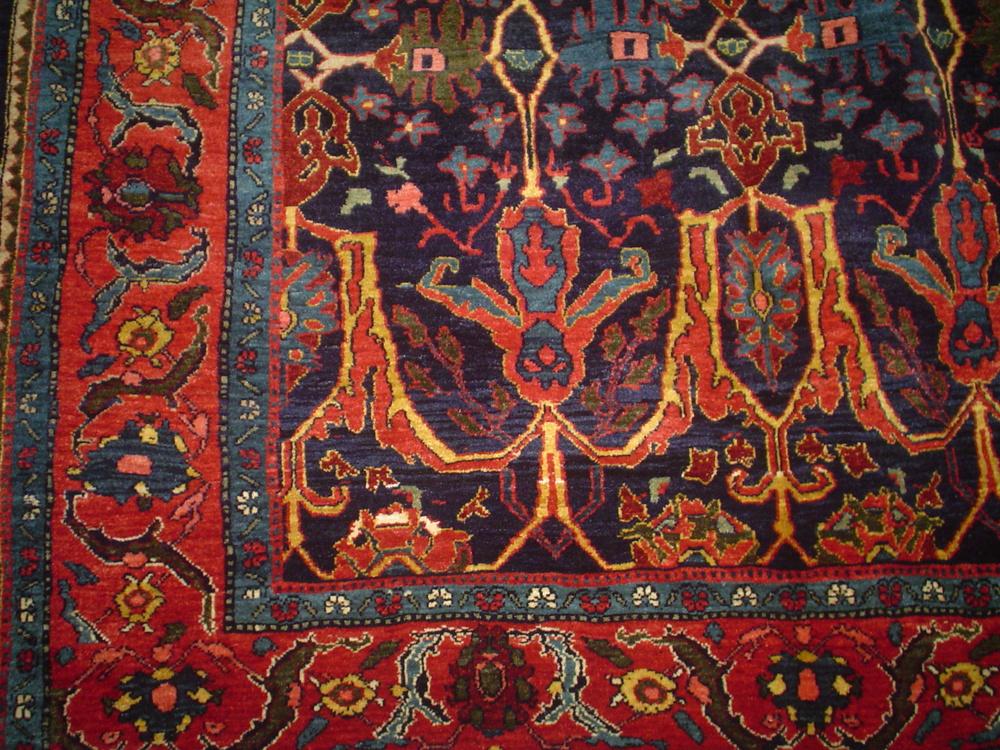 #45: Exquisite Persian Bijar in jewel tones.