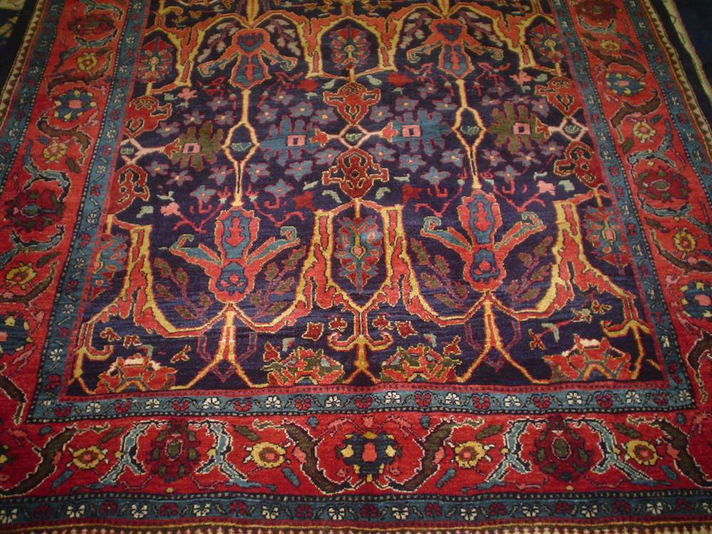 #46: 5 x 7 Garros Bijar rug, close-up.