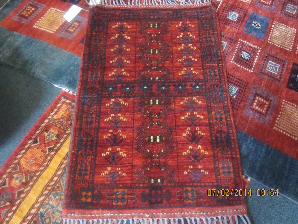 "#47: Small Ersari Turkoman rug. 2'2"" x 3'4"". Great depth of color, beautiful wool. A winner!"