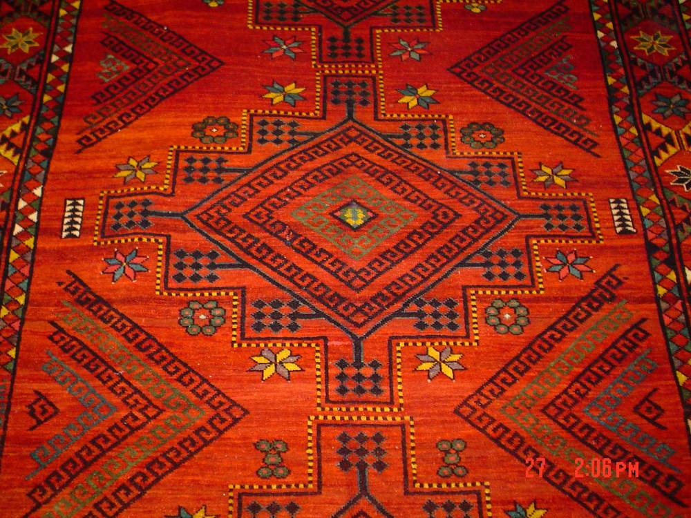 "#2: Beautiful 6'6"" x 12' Uzbek rug. Sold"