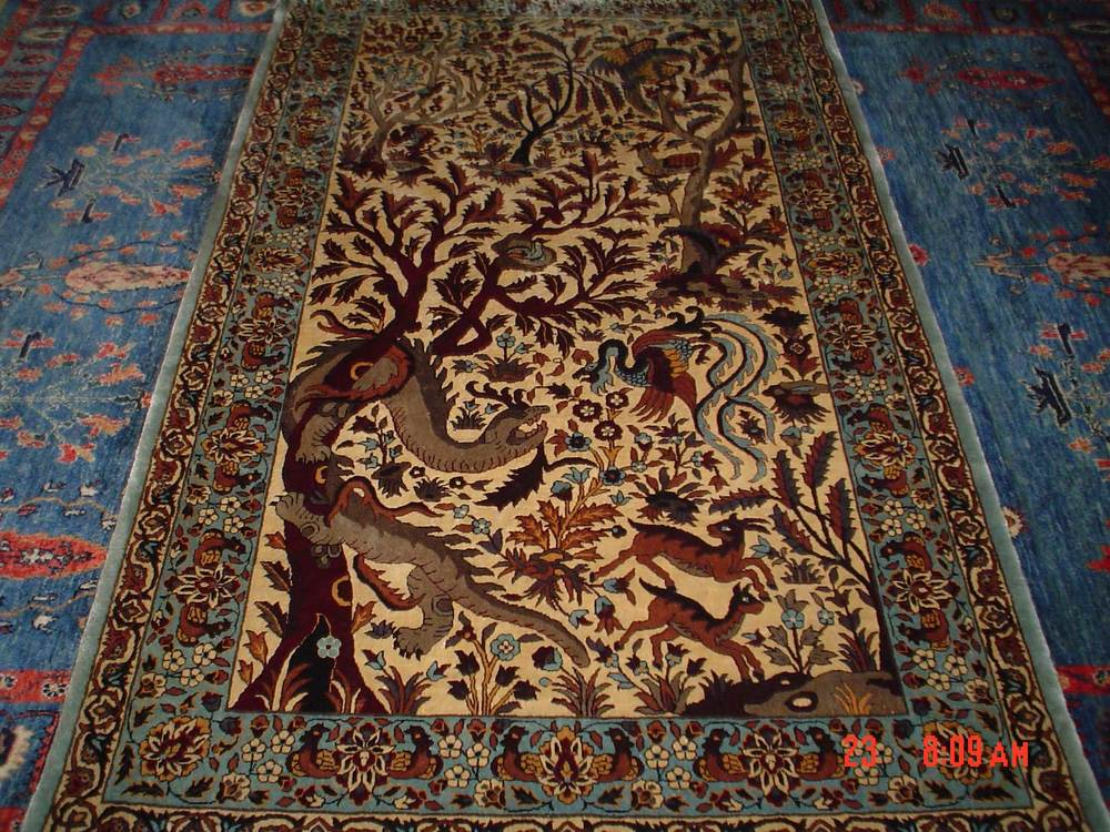 #6: Amazing 3 x 5 Silk Tree of Life rug.  Sold.
