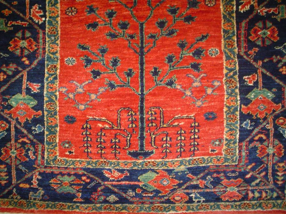 #8: 3 x 5 Tree of Life Persian Khamsehbaf. Sold.