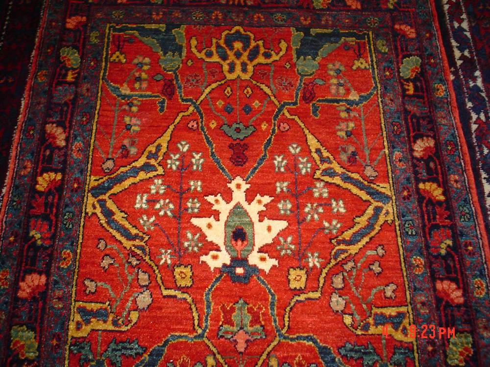 "#9: Persian Bijar, 2'8"" x 4'2"" close up. Sold."