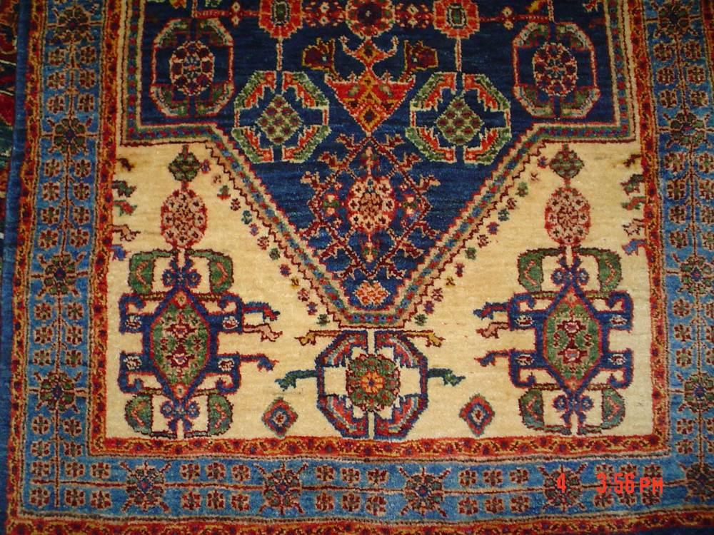 #35: Persian tribal rug, Qashqai. 2.7 x 5 stunning small Qashqai runner. Sold.