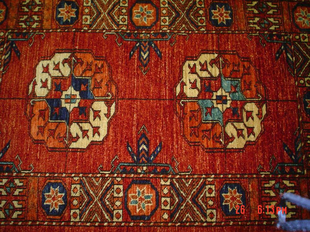 #36: 2.6 x 3.10 Turkoman. Very old Turkoman design. Ersari Turkoman, small rug.
