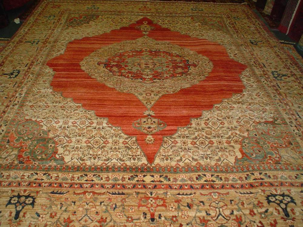 #40: 8 x 10 veg dyed, handmade rug from Afghanistan. Exquisite.
