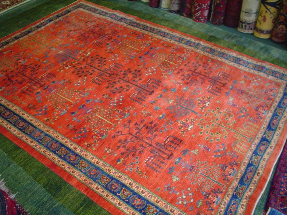 "#43: 6'10"" x 9'10 Persian tribal Khamsehbaf. Sold."