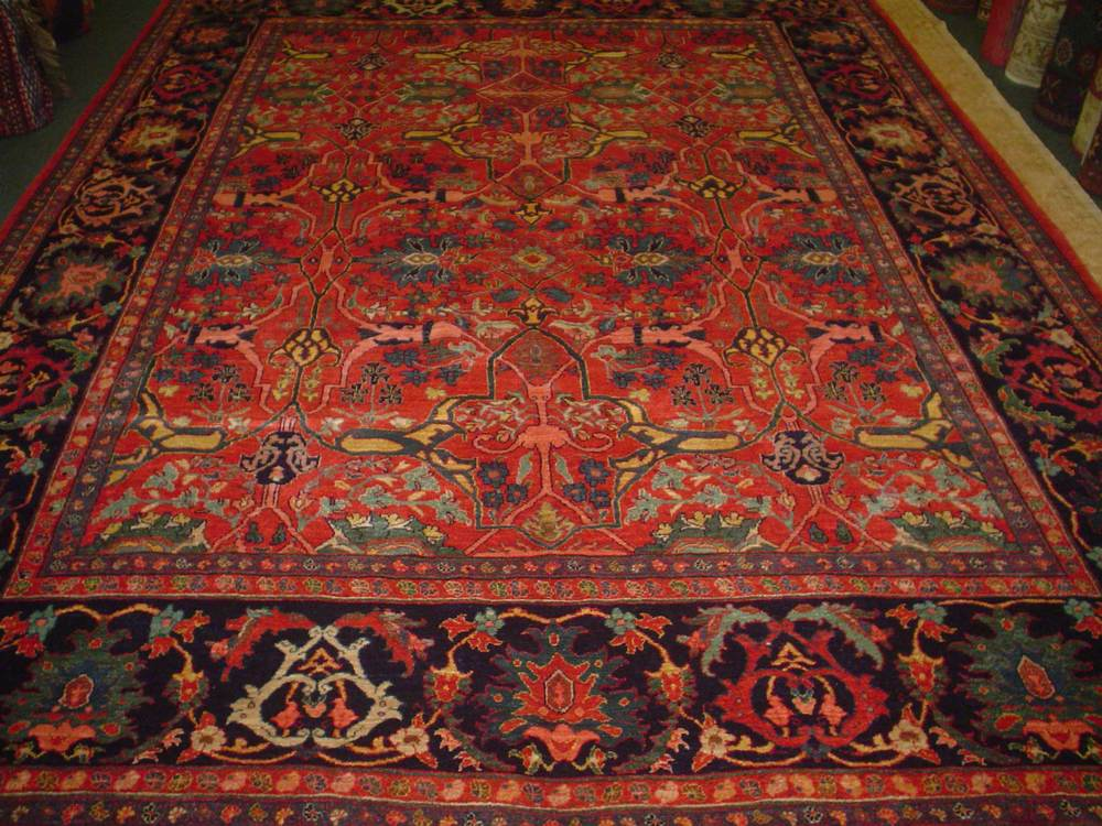 #48: 8 x 11 Persian Bijar carpet antique design, new rug. Sold.