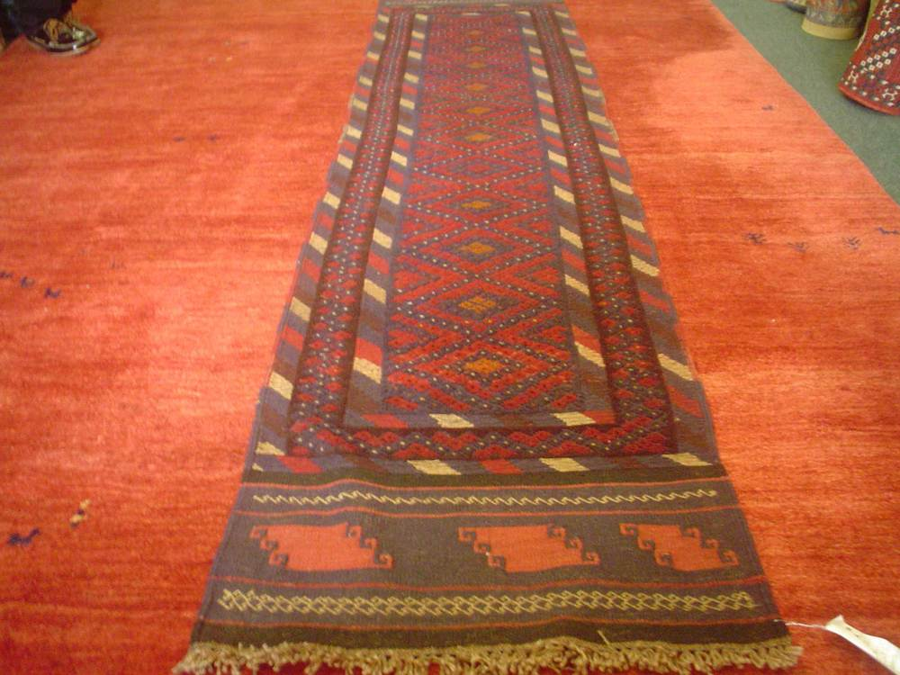 #11)  Balouch tribal runner. 2' x 8'9""