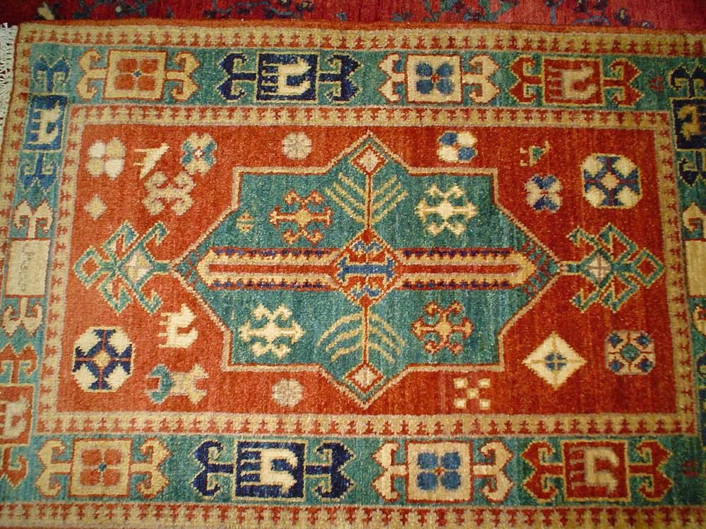"#22) 2'2"" x 3'2"" Afghan Kazak."