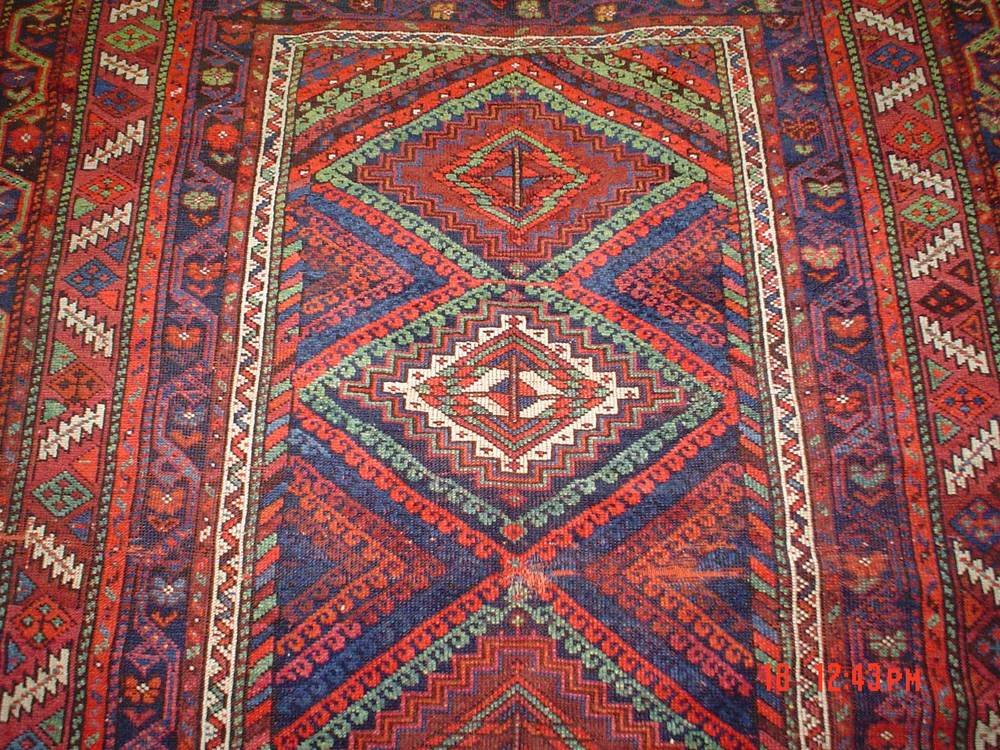 #25) Very old 5 x 7 Persian tribal rug. Qashqai.
