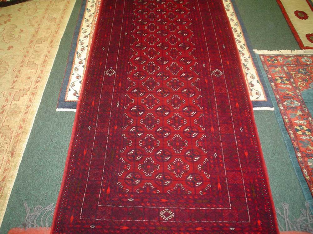#27) Turkoman runner. Finely woven, just under 7 ft.