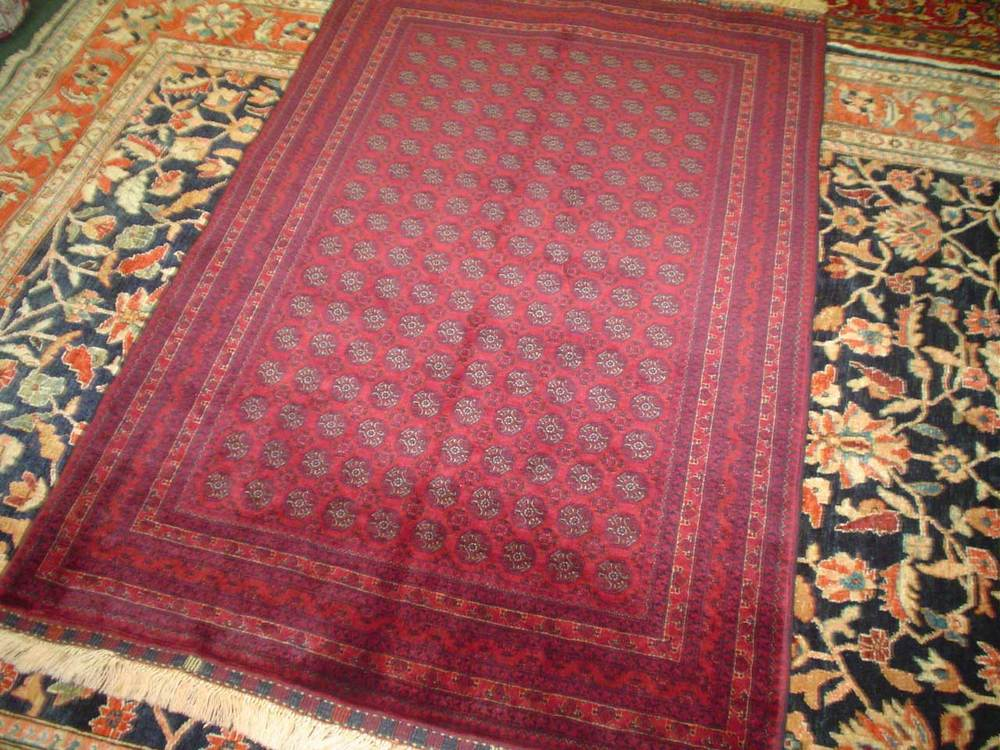 "#27) 3'3"" x 4'11"" Turkoman rug. Finely woven spectacular small rug."
