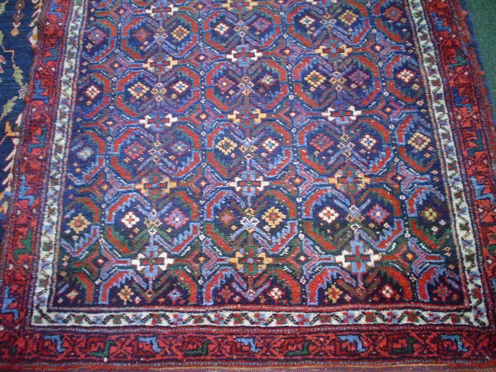 #30) 4 x 5 Antique Afshar in magical blues.