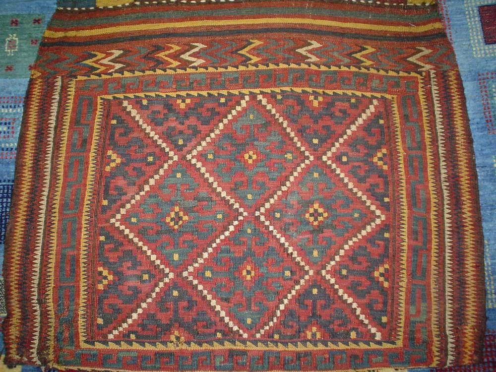 #12) Antique Uzbek Saddlebag. Early 20th Century.