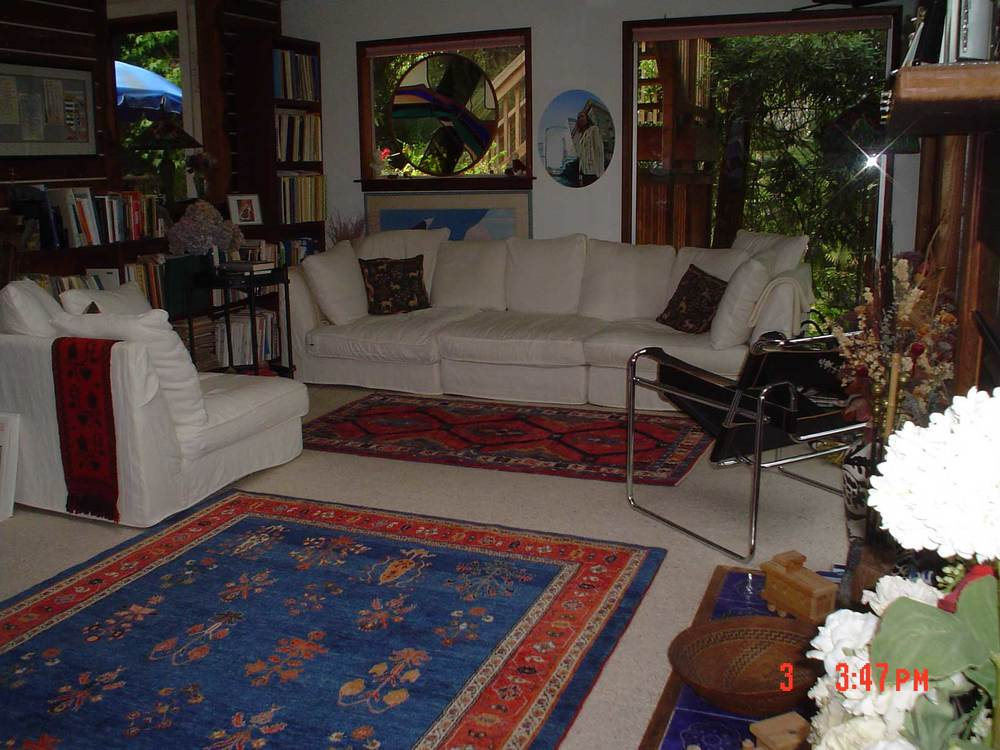 #9: Client's home featuring two Persian tribal rugs from Paradise Oriental Rugs, Inc., in Sebastopol, CA.