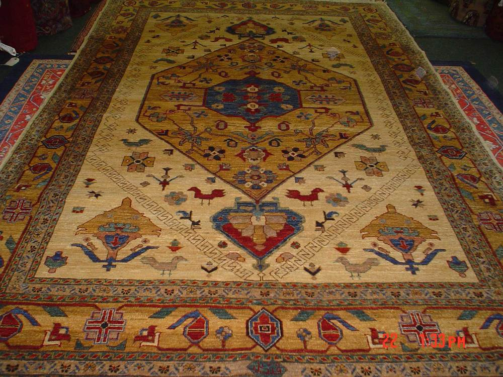 #43: 6 x 9 Bijar design Afghan rug.  Durable and beautiful. Sold.