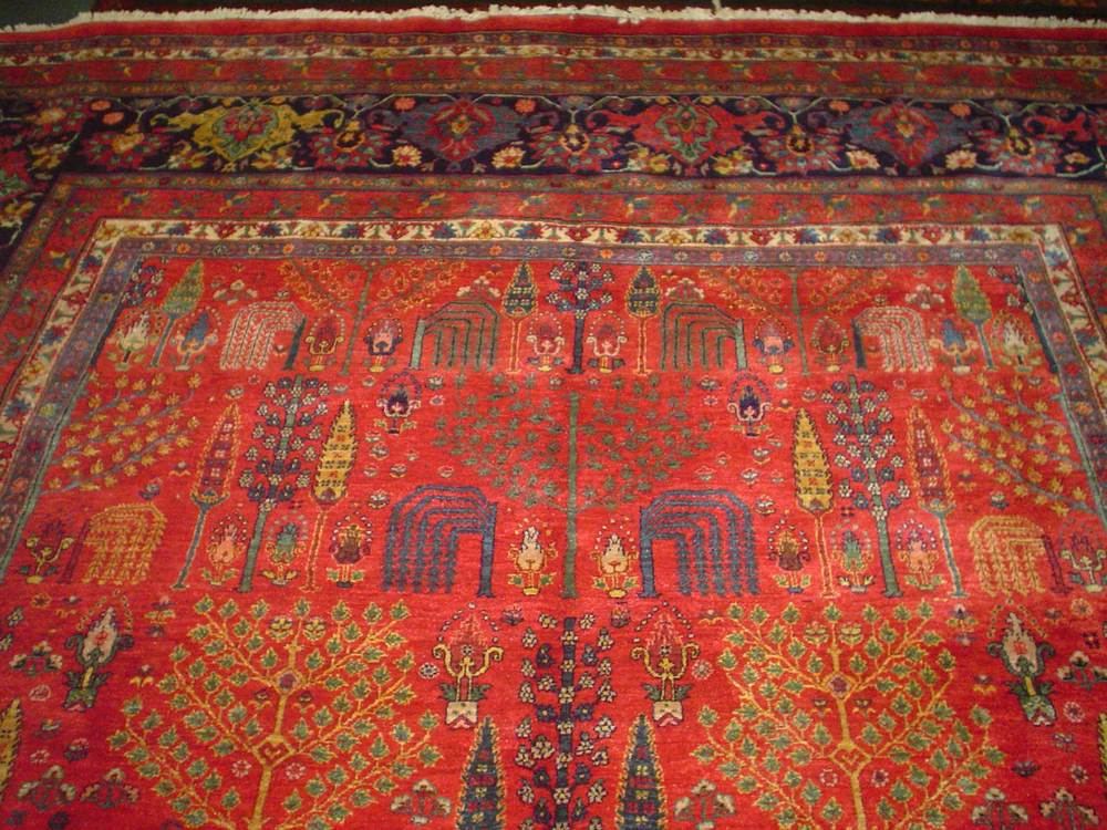 "#50: ""Tree of Life"" Persian Bidjar with Cypress and Willow design. Sold. Just posted a video of this rug on my You Tube Channel."
