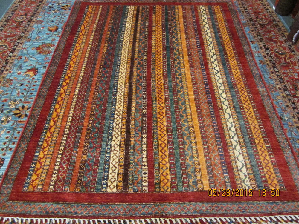 """#7) 4'10"""" x 6'5"""" Gorgeous Shaal Design from Afghanistan."""
