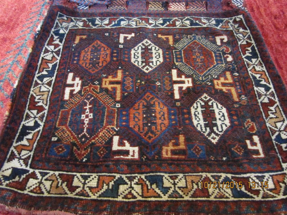 Antique Persian Qashqai Saddlebag....stunning! Available.