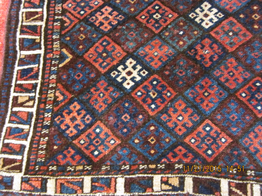 #39) Clear beautiful colors in this antique Jaf Kurd bag face.