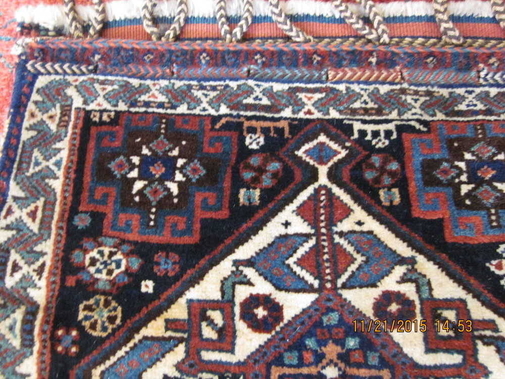 Beautiful Qashqai medallian with a Luri border.