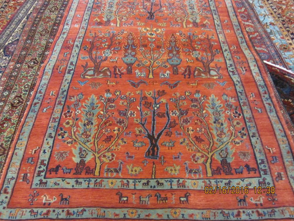 "#36) 4'3"" x 6'3"" Tree of Life rug."