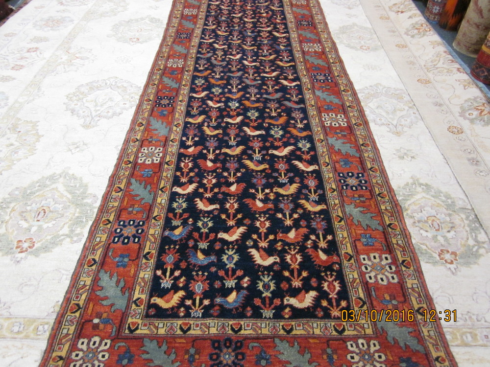 #18) Beautiful Qashqai runner, 3' x 13', finely woven in Afghanistan.
