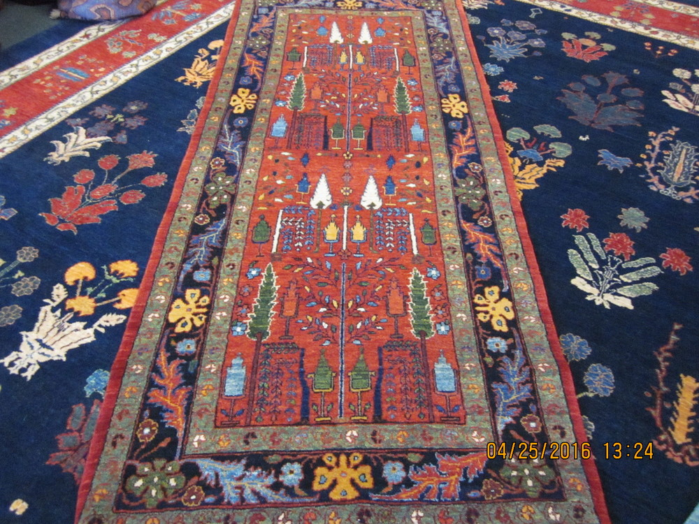 Beautiful Bijar runner. Sold.