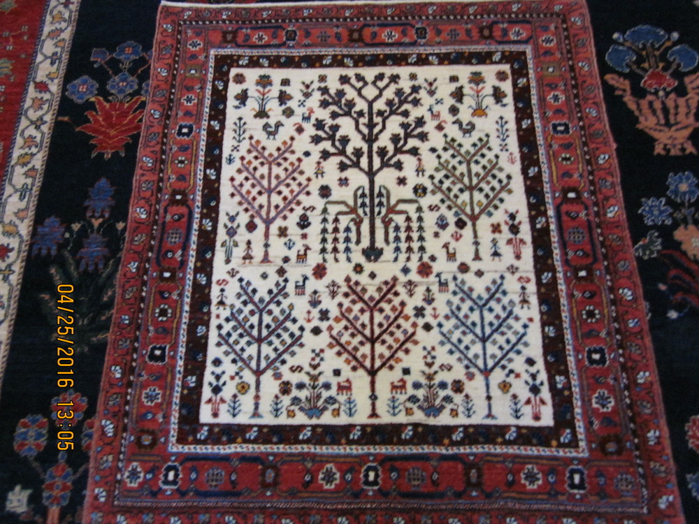 Enchanting small Tree of Life rug.