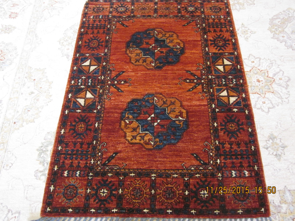 Small Ersari Turkoman rug.