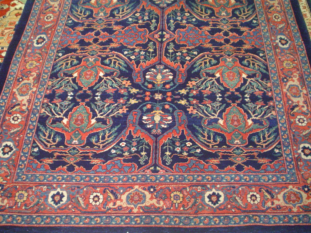 Photo: 5 x 8 Persian Bijar rug, Garrus design in beautiful blues