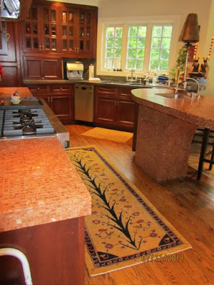 Photo Caption: Oriental runner rug in the kitchen