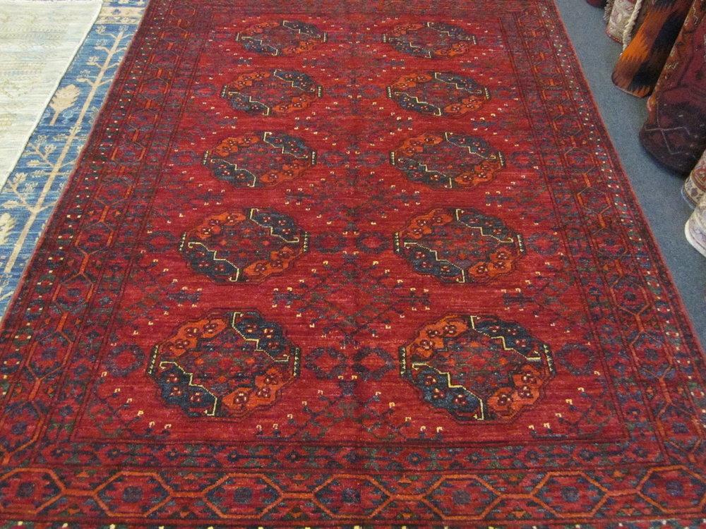 "5' x 6'7"" Ersari Turkoman rug."