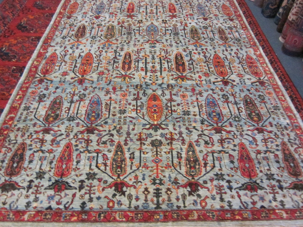 6 x 8 Afghan Tree of Life Oriental rug.