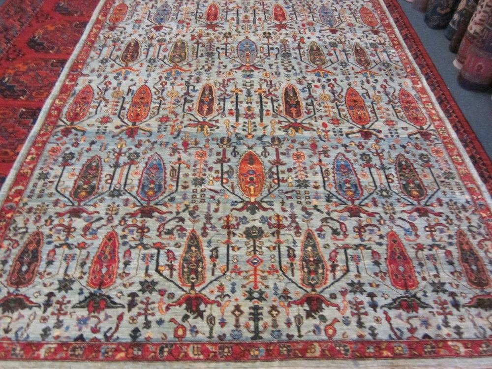 6 x 8 Afghan Tree of Life Oriental rug.