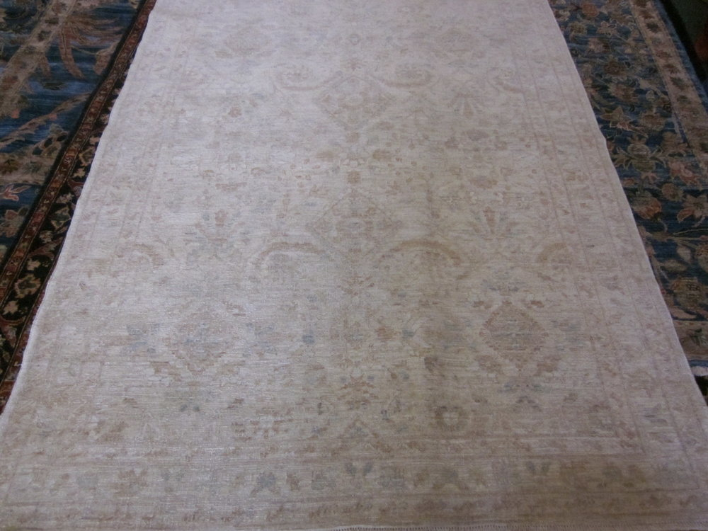 39) 4 x 7 Finely woven antique Tabriz design Afghan rug. New!