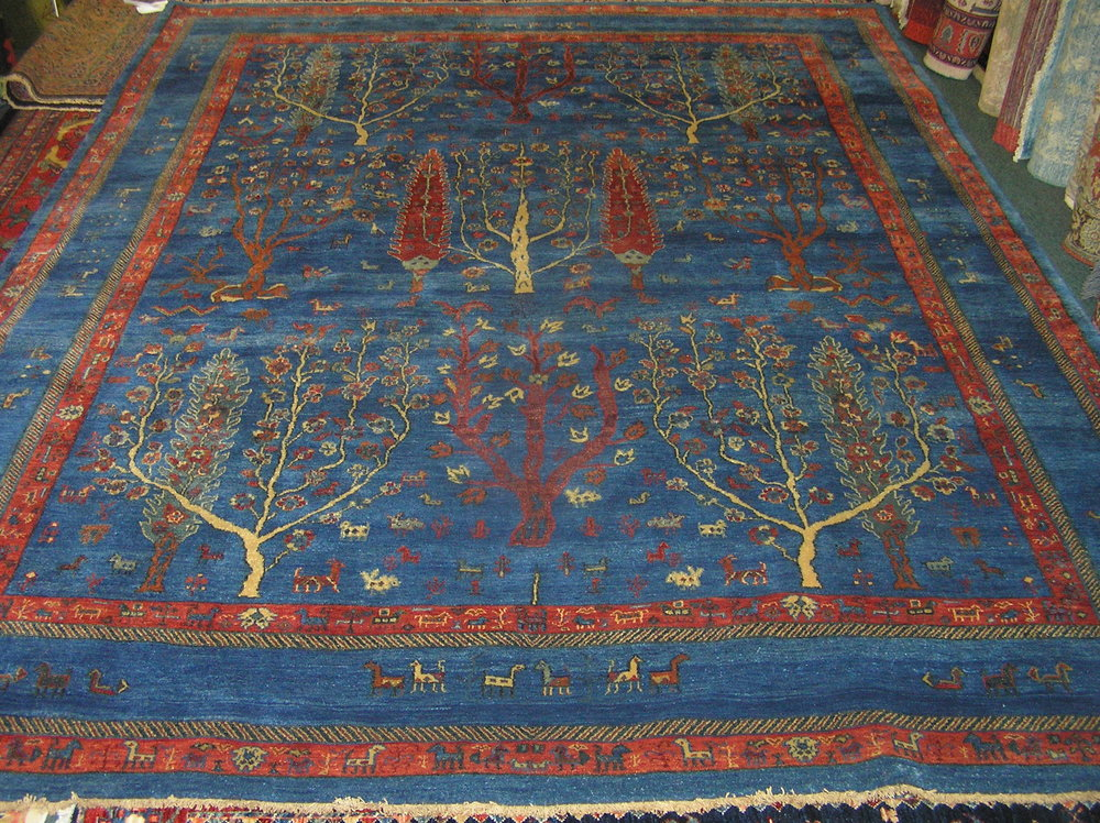 """#33a) Beautiful 8 x 10 Tree of Life rug. Exact size is 7'9"""" x 9'11""""."""