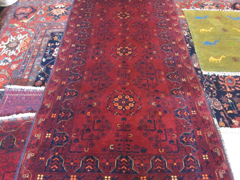 "#35) 3'3"" x 6'4"" Turkoman rug."